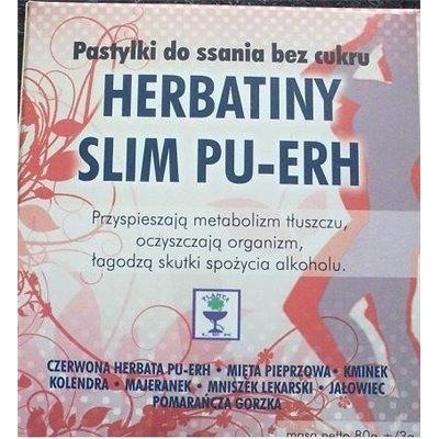 Herbatiny Slim Pu-Erh bez cukru 80g