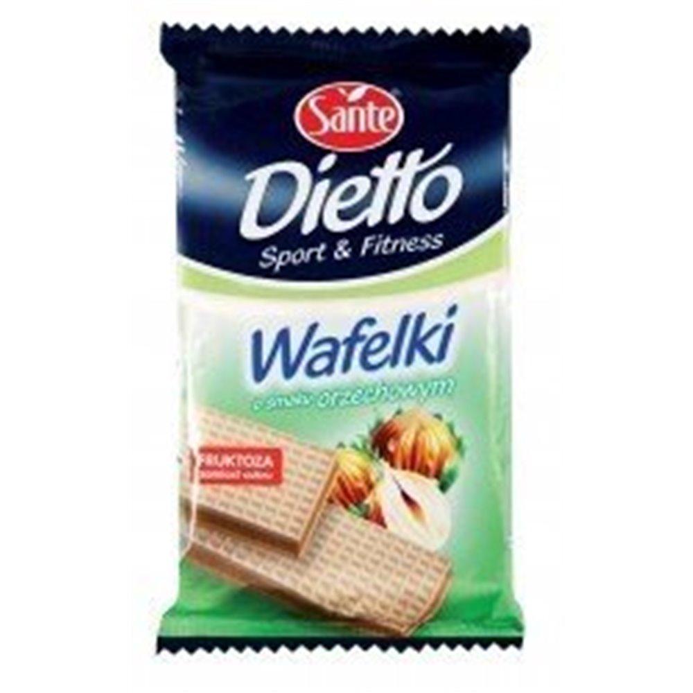 Wafle Orzechowe bez cukru 85g
