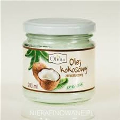 Olej Kokosowy Zimnotłoczony 200ml - WZMOCNIJ SERCE