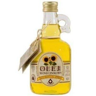Olej Słonecznikowy zimnotłoczony 500ml