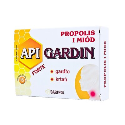 API GARDIN FORTE Propolis i Miód 16 pastylek