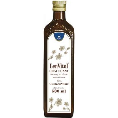 Olej Lniany tłoczony na zimno 500ml