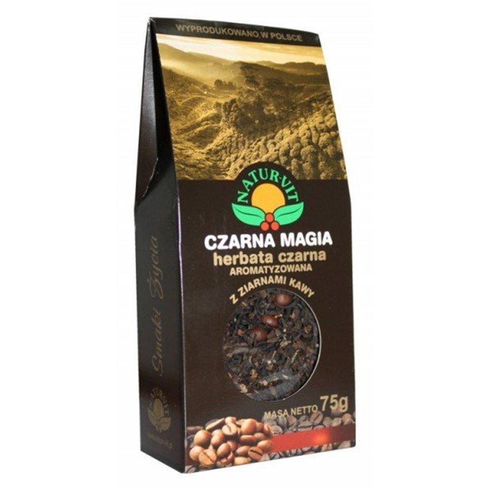 Herbata Czarna Magia z ziarnami kawy 75g