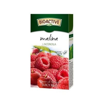BioActive Herbata z Maliną i acerolą fix 20x2,5g