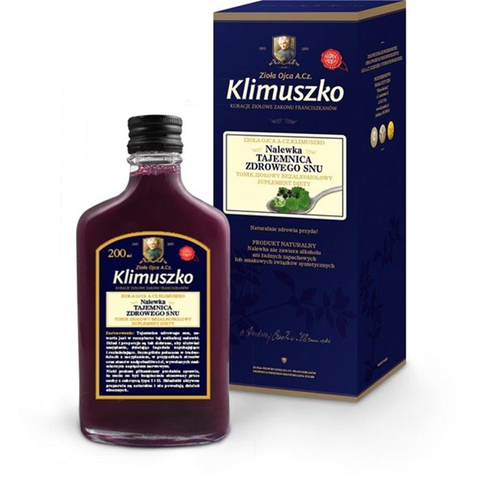 Nalewka Ojca Klimuszko na bezsenność 200ml- kuracja 25 dniowa bezalkoholowa!