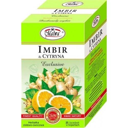 Herbata Zielona z imbirem i cytryną 100g Malwa