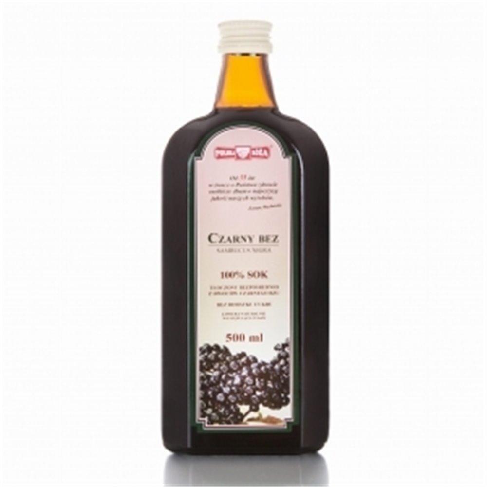 Czarny Bez sok 100%  bez cukru 500ml