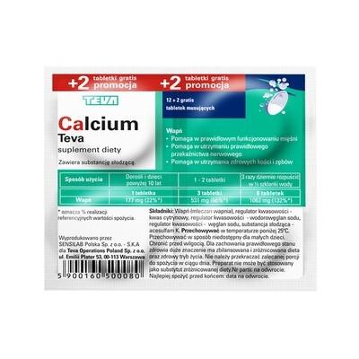 Calcium tabletki musujące na alergię 20szt