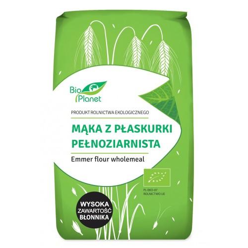 Bio Planet mąka z płaskurki pełnoziarnista BIO 500g