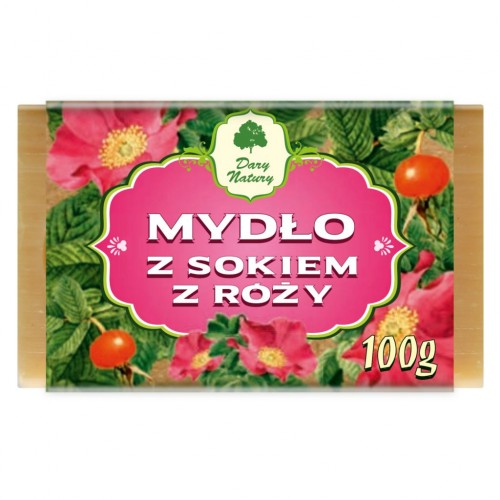 Dary Natury mydło z sokiem z róży 100g
