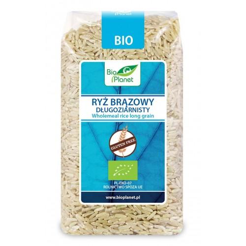 Bio Planet ryż brązowy długoziarnisty bezglutenowy BIO 500g