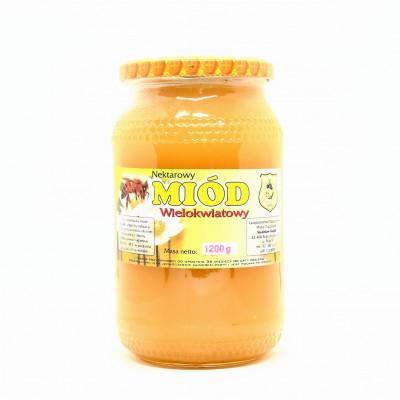 Pasieka kubik miód wielokwiatowy 1,2kg