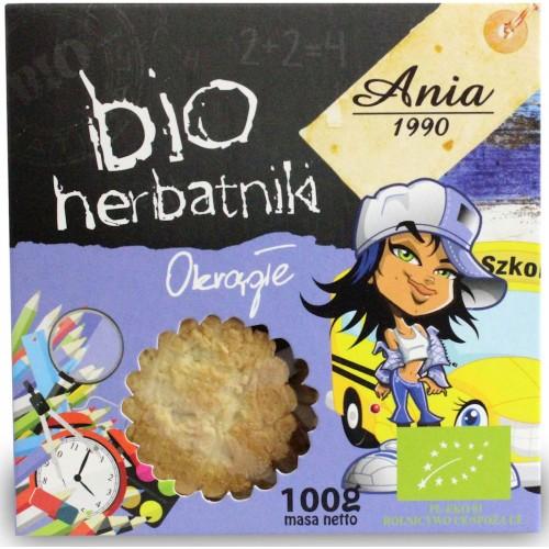 Bio Ania herbatniki okrągłe BIO 100g
