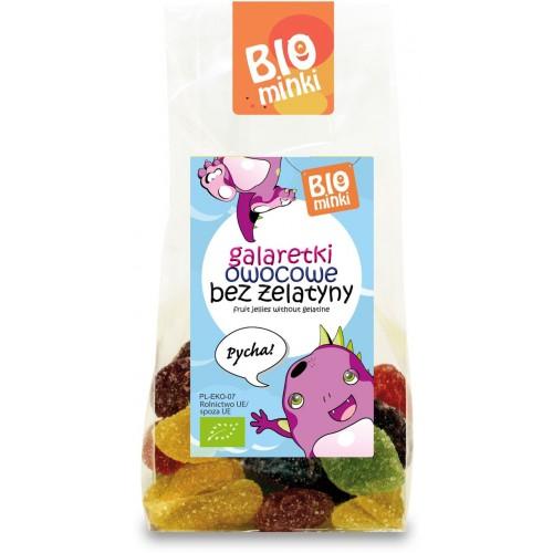 Biominki galaretki owocowe bez żelatyny BIO 100g