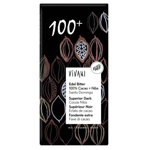 Vivani czekolada 100% kakao BIO 80g