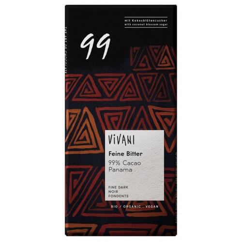 Vivani czekolada gorzka 99% kakao BIO 80g