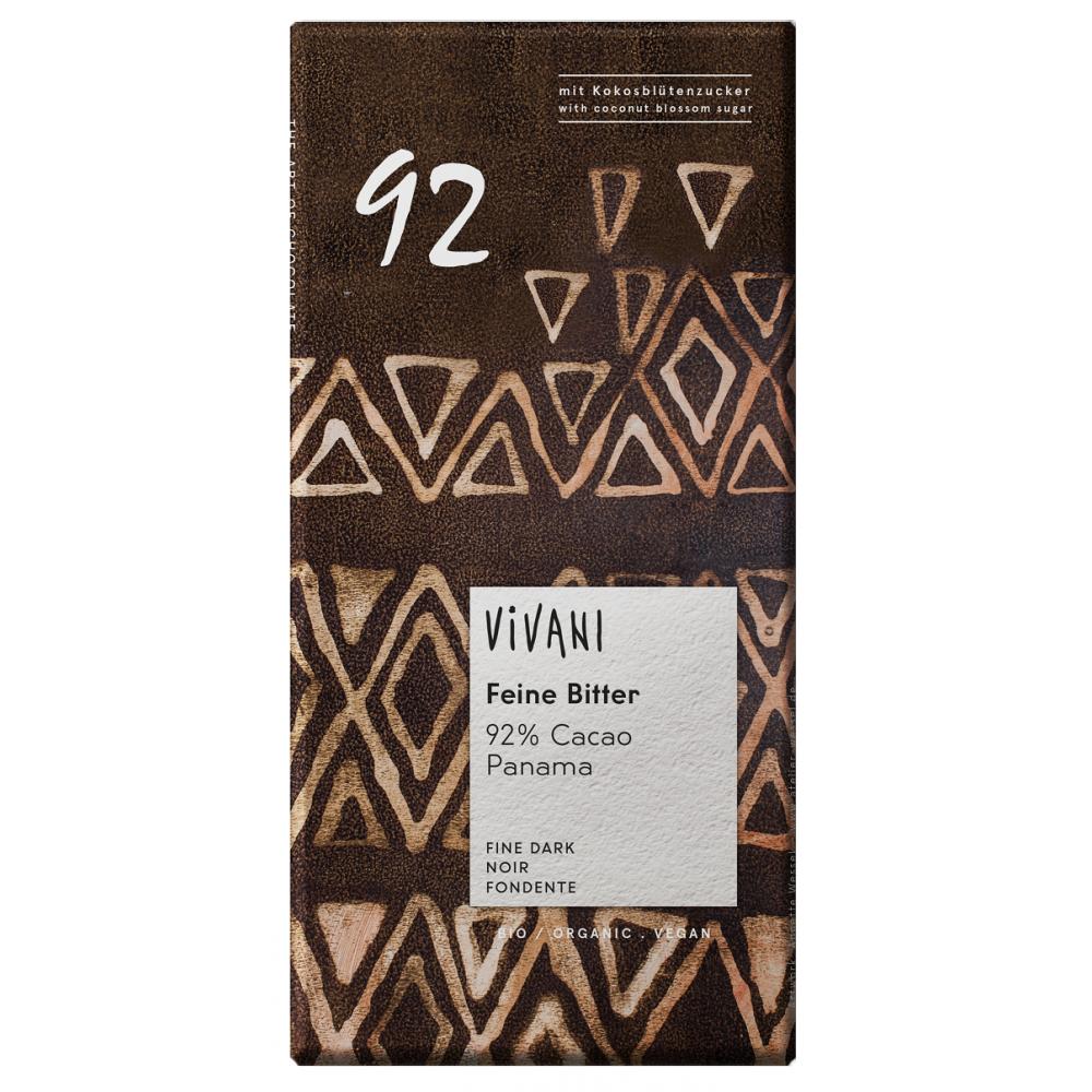 Vivani czekolada gorzka 92% kakao BIO 80g