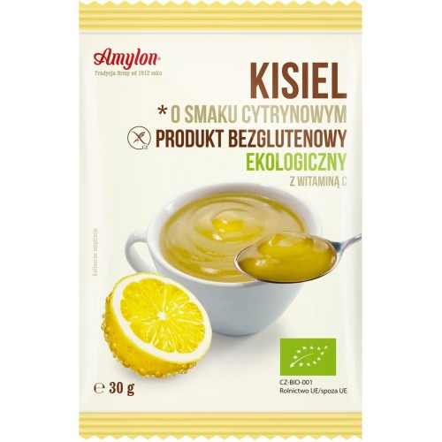 Amylon kisiel o smaku cytrynowym bezglutenowy BIO 30g
