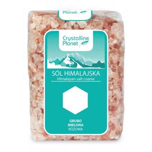 Crystalline Planet sól himalajska różowa grubo mielona 600g